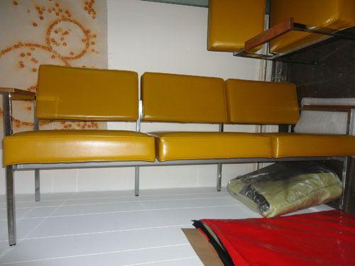 modern retro furniture. vintage mcm mid century modern steelcase couch chair harvest gold chrome frame modern retro furniture d
