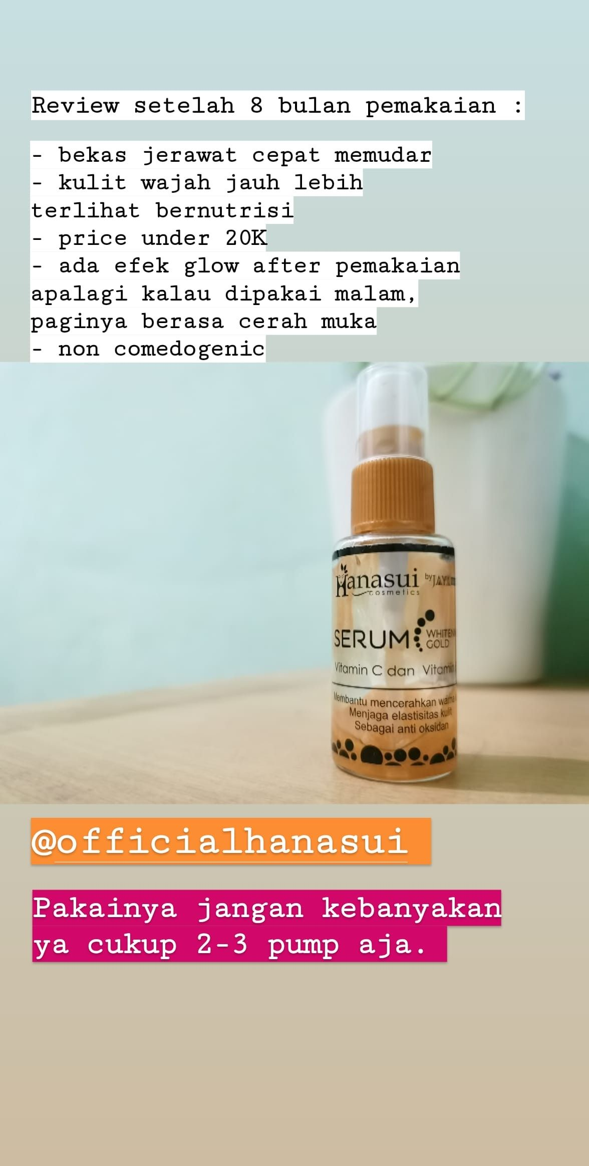 Review Serum Gold Hanasui : review, serum, hanasui