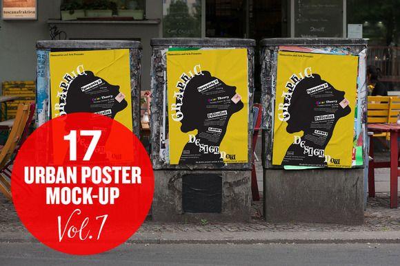 Urban Poster Mockup Vol 1 Poster Mockup Poster Mockup