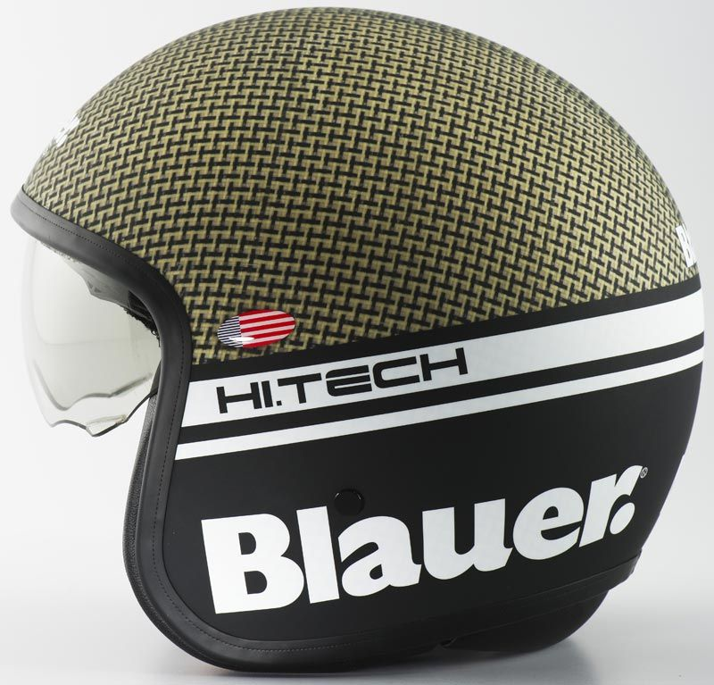 Blauer Pilot Carbon Jet Helm Moped Motorcycle Helmets