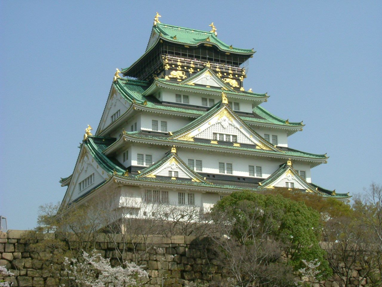 Ishiyama Honganji, in Osaka, Japan. This fortress was put under ...