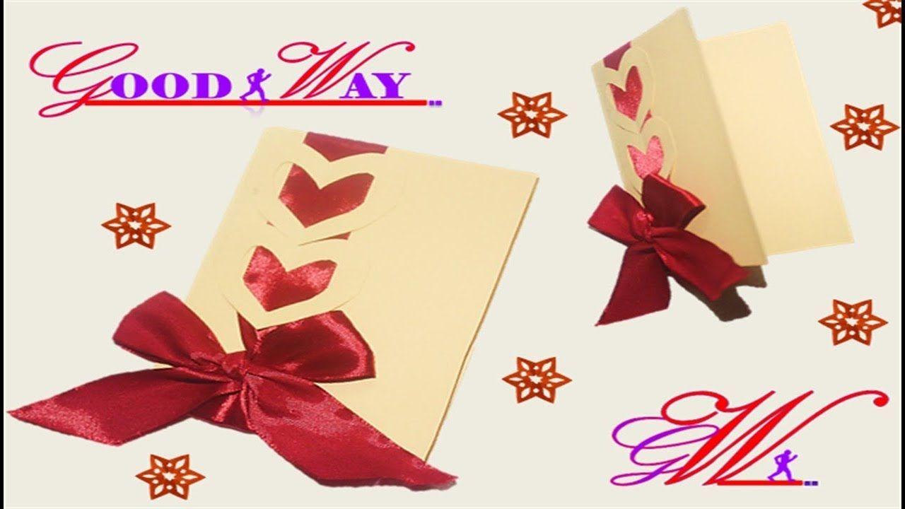 طريقة عمل بطاقة تهنئة أو دعوة أو مطوية 27 Greeting Card Or Invite Diy And Crafts Crafts Hand Art