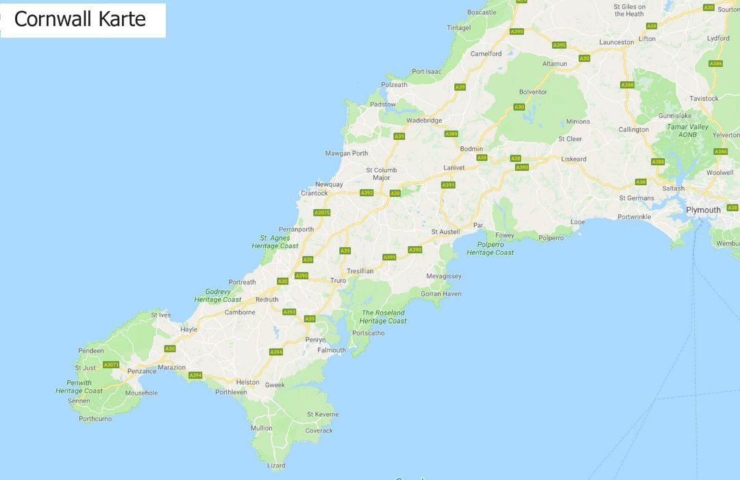 Cornwall Karte Cornwall Reise Cornwall Urlaub Urlaub Planen