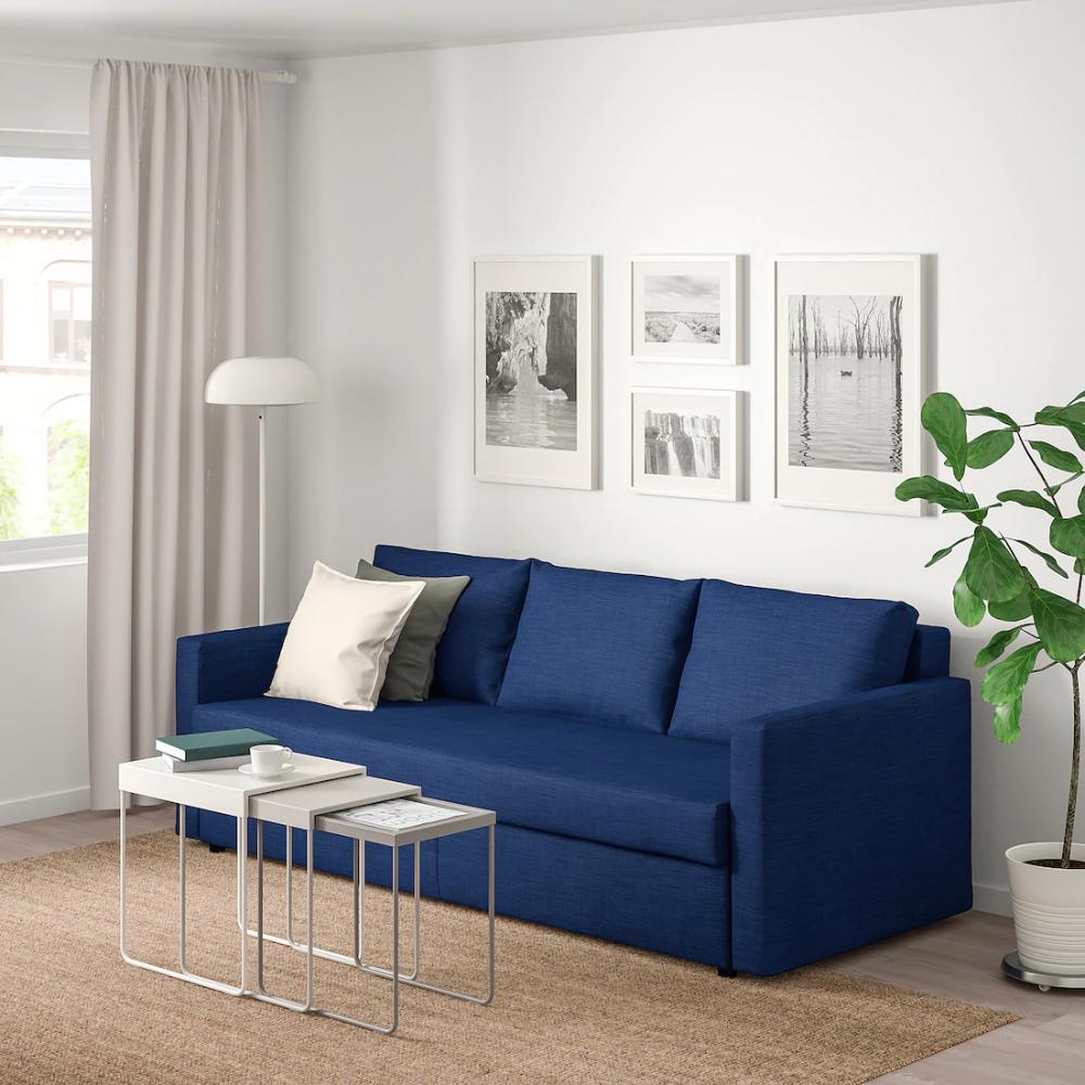 Friheten 3 Zits Slaapbank Skiftebo Blauw In 2020 Corner Sofa