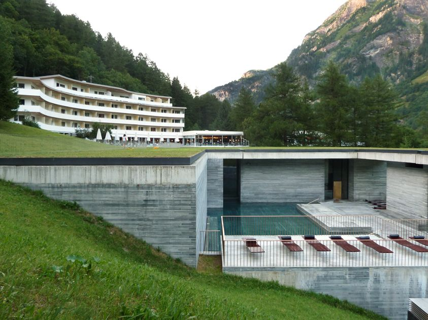 Peter zumthor baths plan google search thermal baths for Design hotel vals