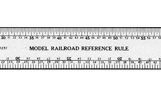 12 Long x 1//2 Wide N Scale Stainless Steel Ruler Accurate