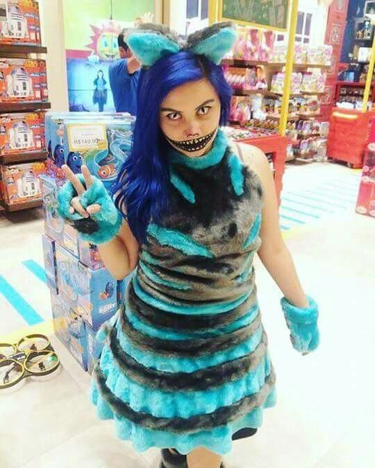 Cosplay Cheshire Cat Alice In Wonderland Com Imagens
