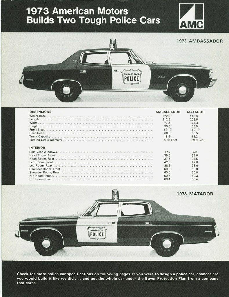 1973 Amc Police Car Ad Police Cars American Motors