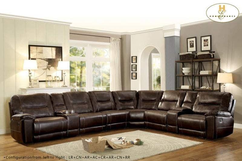 Astounding Homelegance Columbus 8 Piece Sectional Sofa 8490 8Lrrr Alphanode Cool Chair Designs And Ideas Alphanodeonline
