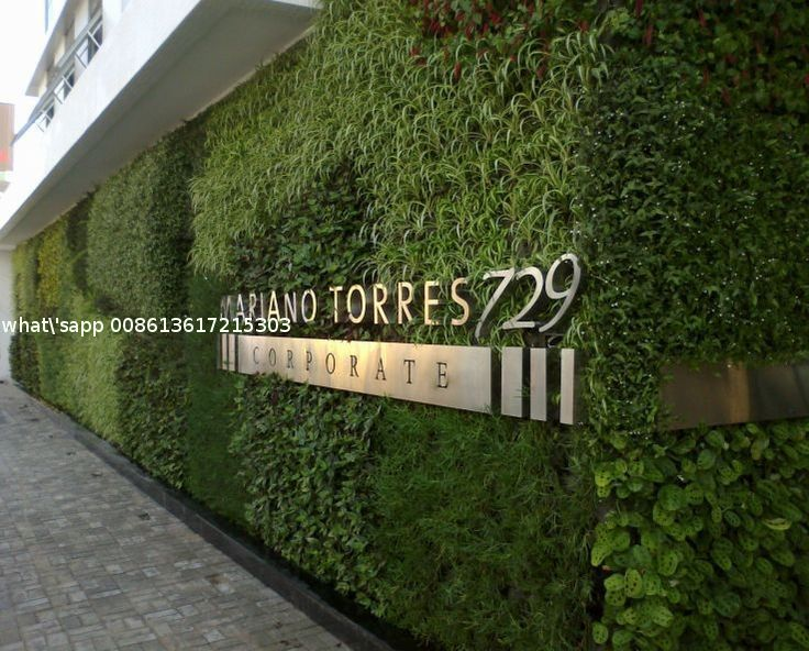 Landscaping Artificial Plants Wall Plastic Grass for ...