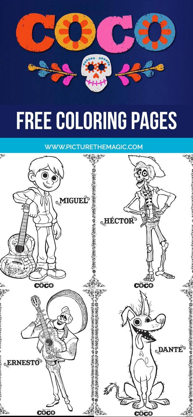 Coco coloring pages october edition miguel coloring pages