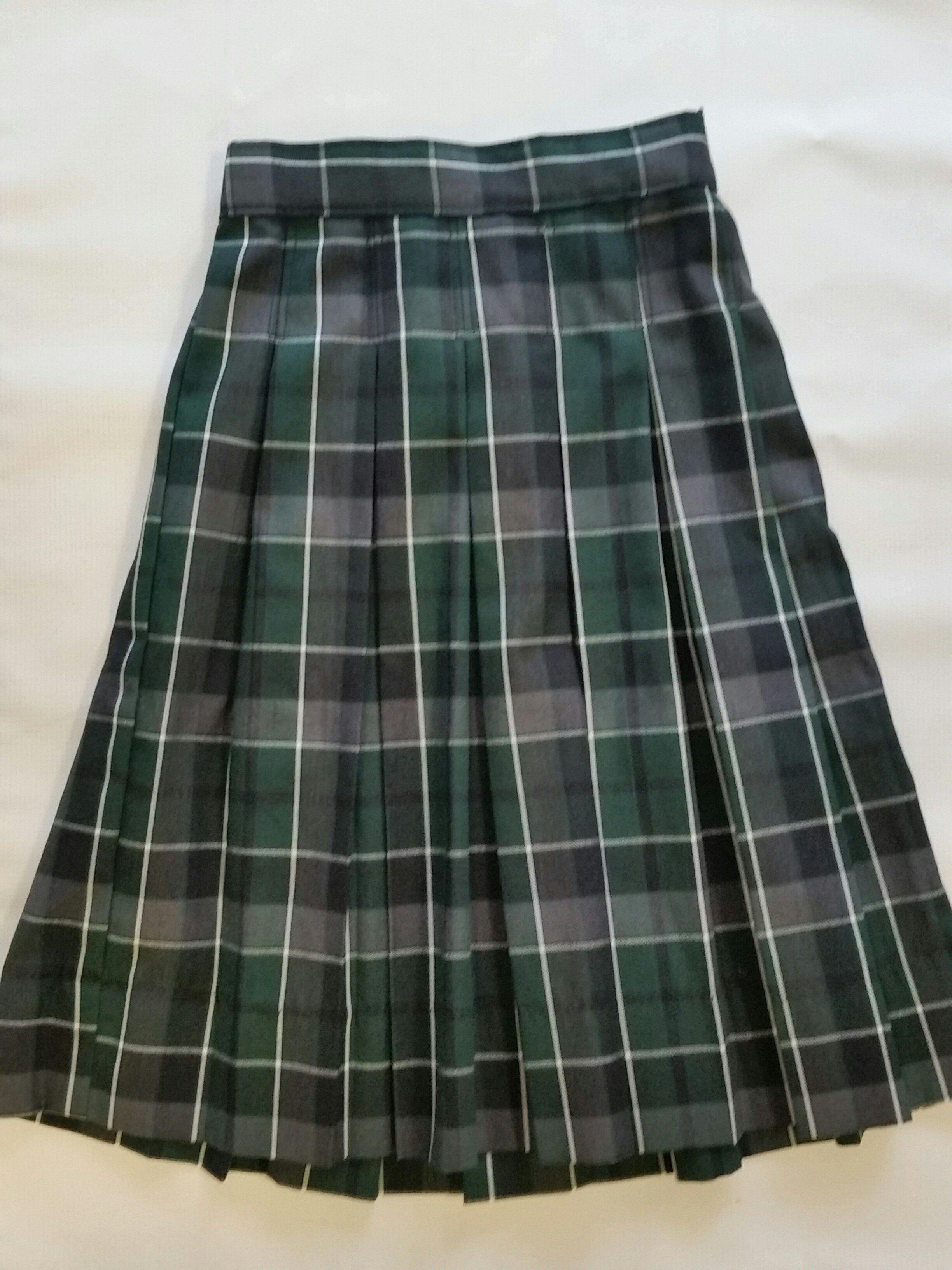 c60f19dc3c Pleated Skirt in Plaid 79. Comfortable poly rayon Black Watch plaid (navy,  evergreen and black). Sewn-down box pleats, zipper/… | Plaid School  Uniforms ...