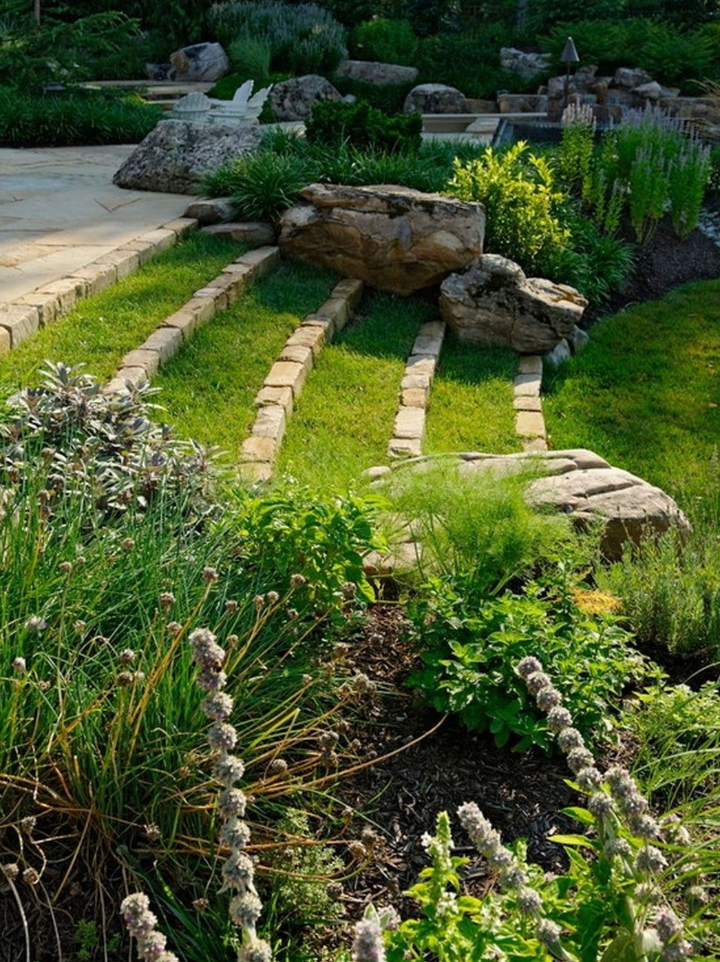 8 summer small patio ideas for you sloped yard On low maintenance sloping garden ideas
