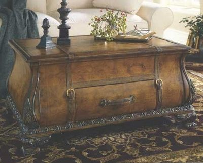 Old World Map Bombay Trunk Coffee Table Trunk coffee tables