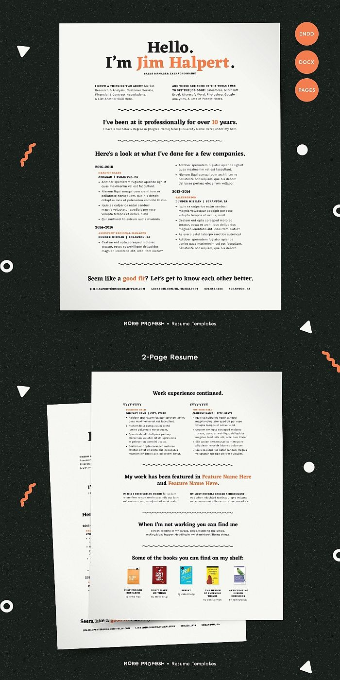 Human Voiced Resume Cv Kit Pinterest Indesign Templates