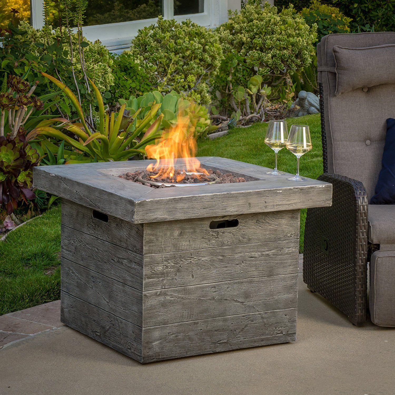 amazon com vermont outdoor 32 inch square liquid propane fire