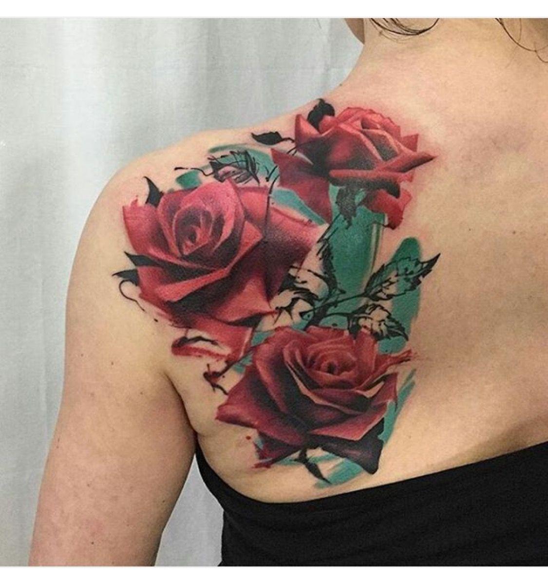 PINTEREST LOVEMEBEAUTY85 Rose tattoos, Back tattoos
