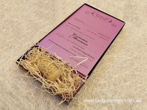 Extraordinary Vineyard Wine Theme Wedding Invitations