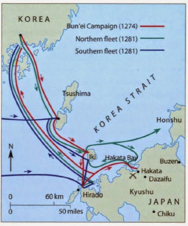 Campaign+mapMongol invasion of Japan War and historical maps - copy map japan world war 2
