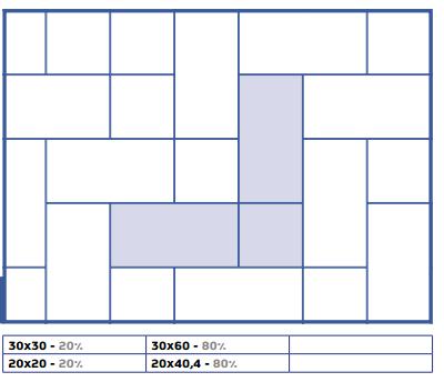 Modular Tile Pattern Using 8x16 And 8x8 Tile 12x24 Tile Patterns Tile Patterns Patterned Floor Tiles