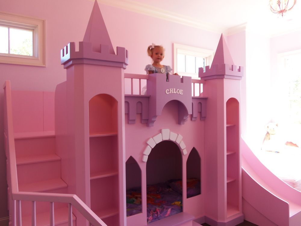 Awesome New Custom Princess Chloe U0027s Castle Loft Bed Free Led Accent Lights
