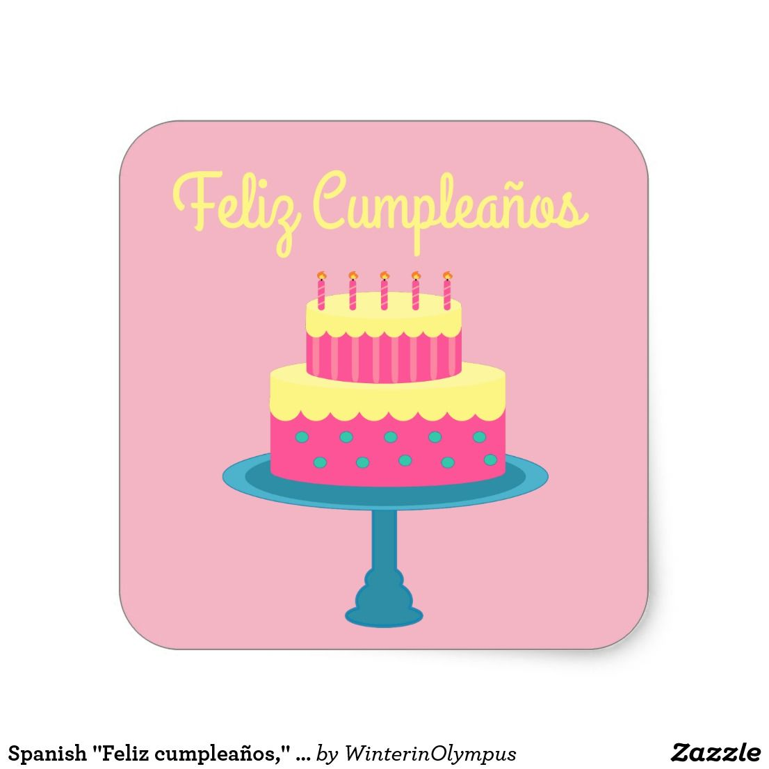 Spanish feliz cumpleaños happy birthday sticker