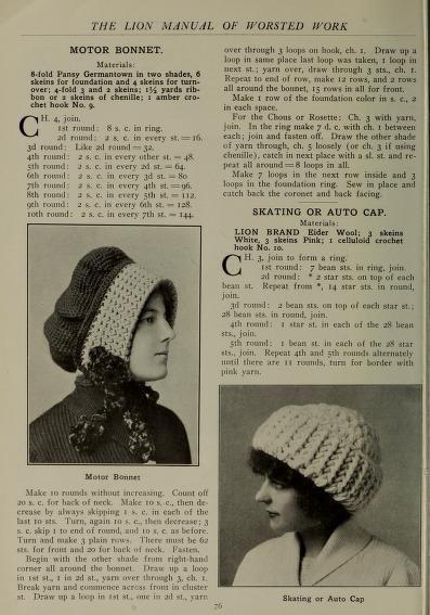 Free Vintage Crochet Hat Pattern Lionbrand Yarn