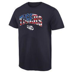 LSU Tigers Banner Arch T-Shirt - Navy
