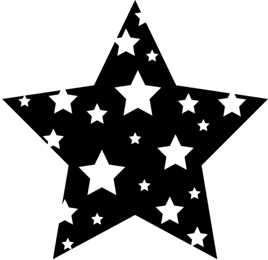 Black And White Patterned Star Clipart Black And White Star Clipart Clip Art