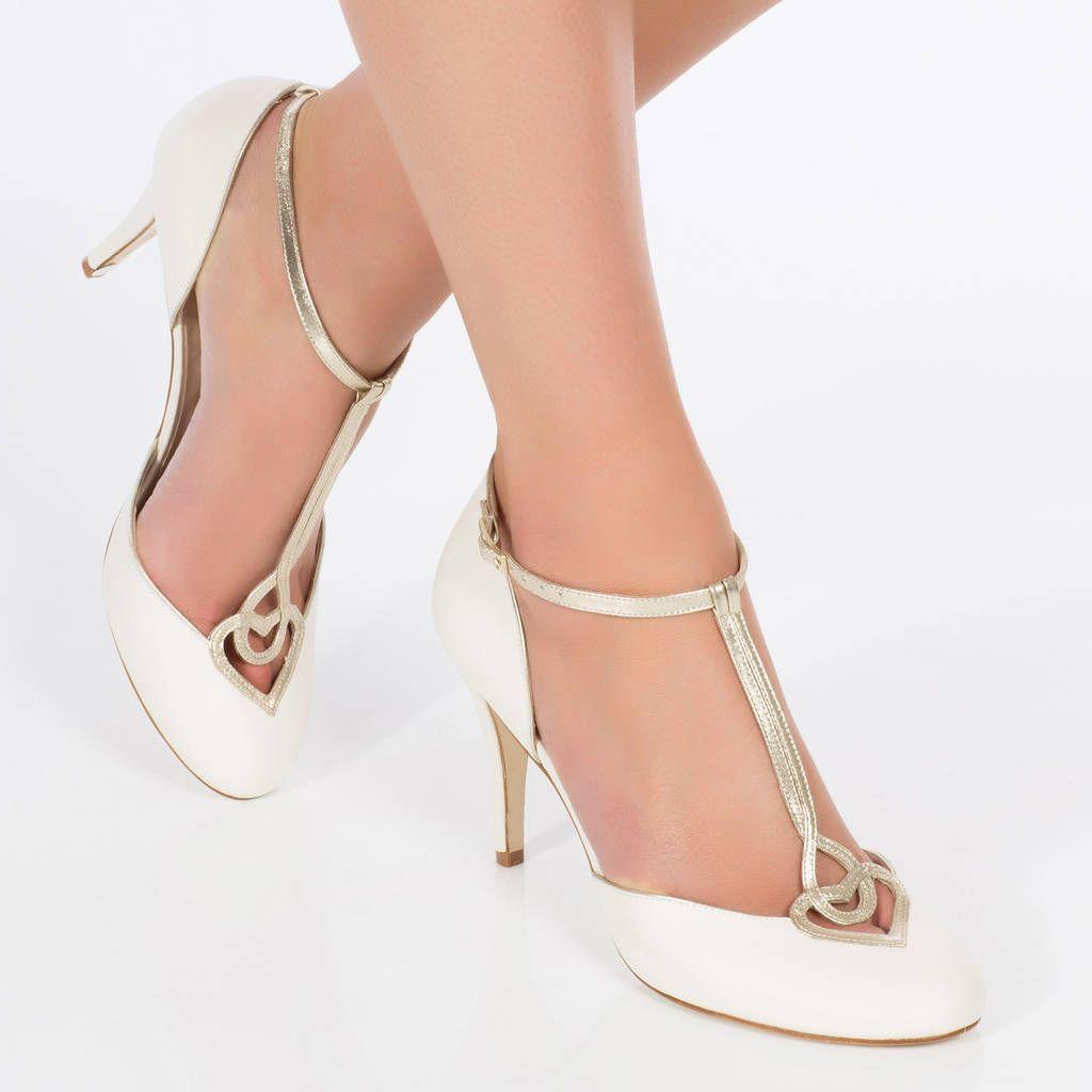 Anastasia T Bar Wedding Shoes