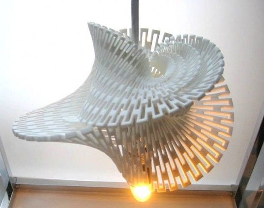 Margot Krasojevic S 3d Printed Ceramic Lamp Is Powered By 100 Wind Energy Ceramic Lamp Cool Lamps 3d Printed Furniture