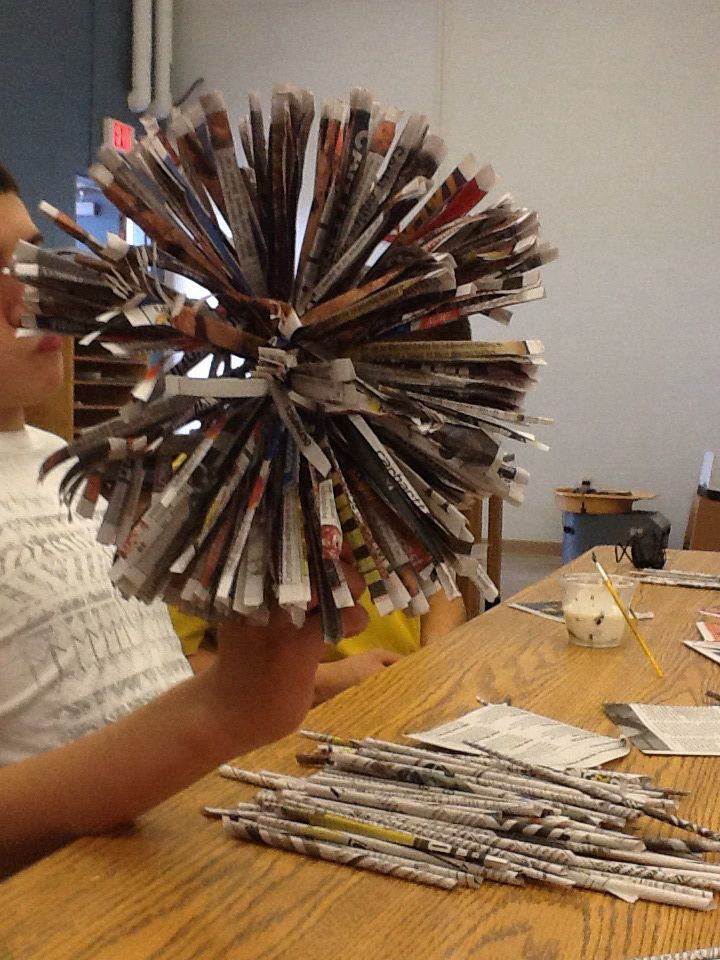 Collect Newspapers To Create 3 D Sculpture Paper Mache Or Wire