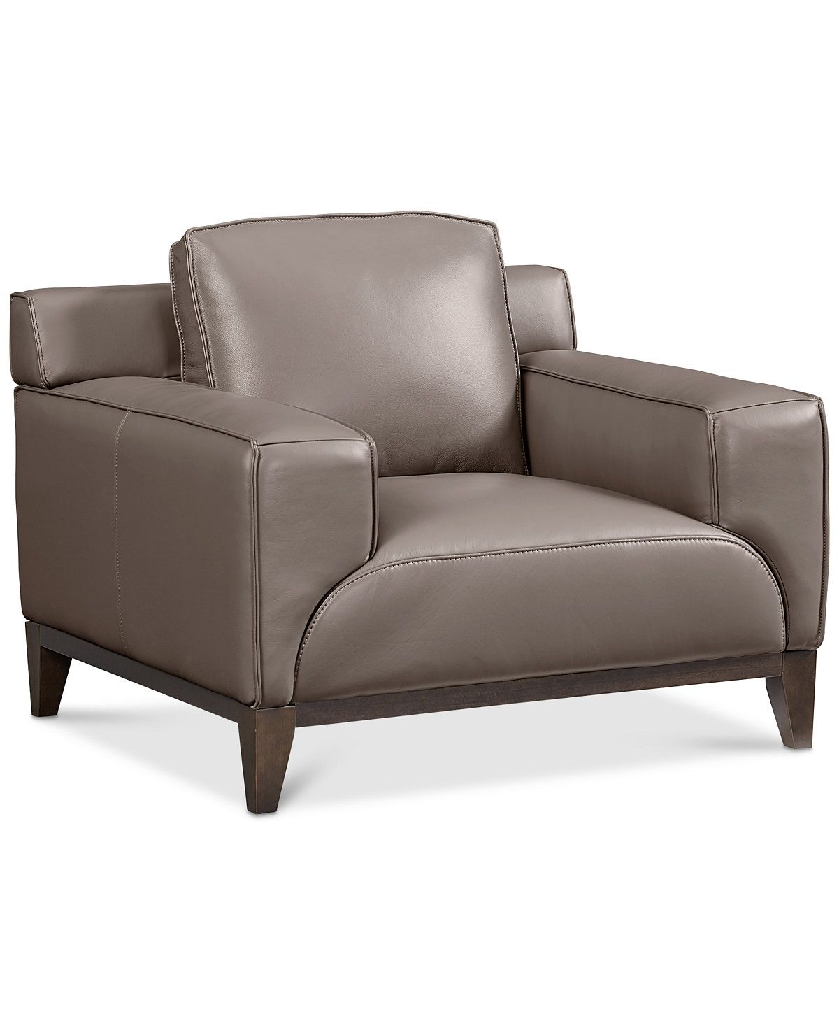 Macys Leather Chair Ticino Leather Chair Created For Macy S Sale Closeout