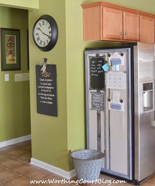 how to make a bulletin board that does double duty kitchen bulletin boardscenter ideaskitchen - Kitchen Bulletin Board Ideas