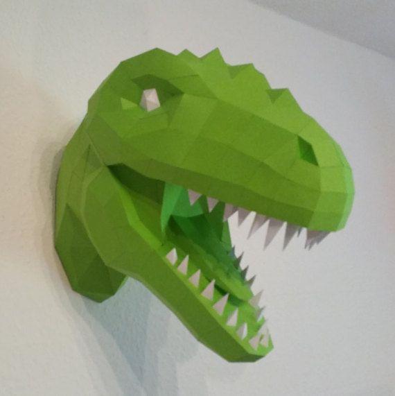 papercraft dinosaurio