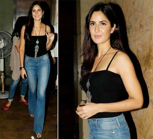 Katrina Kaif in retro jeans at Udta Punjab screening ...