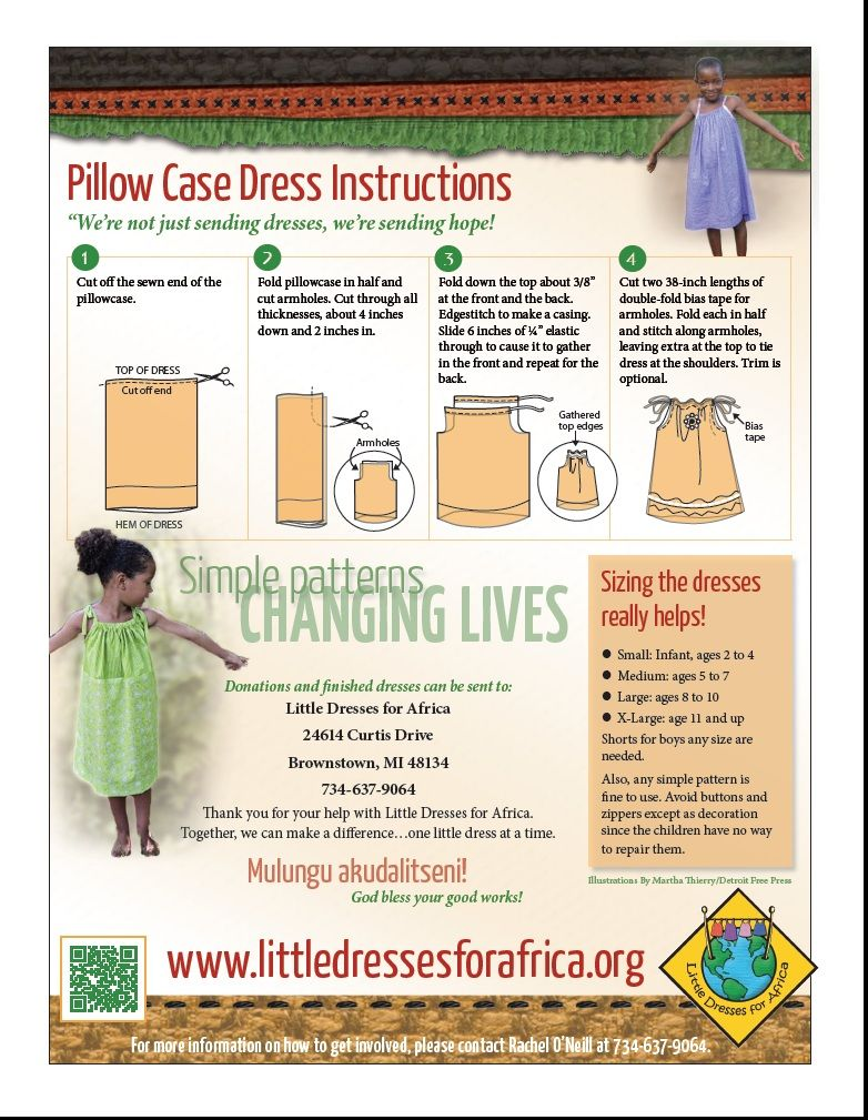 Dress Pattern With Sizes 2016 Following The Simple Steps Below Any Size New Or Gently Used Pillow Ca Pillowcase Dress Pattern Pillowcase Dress Sewing For Kids