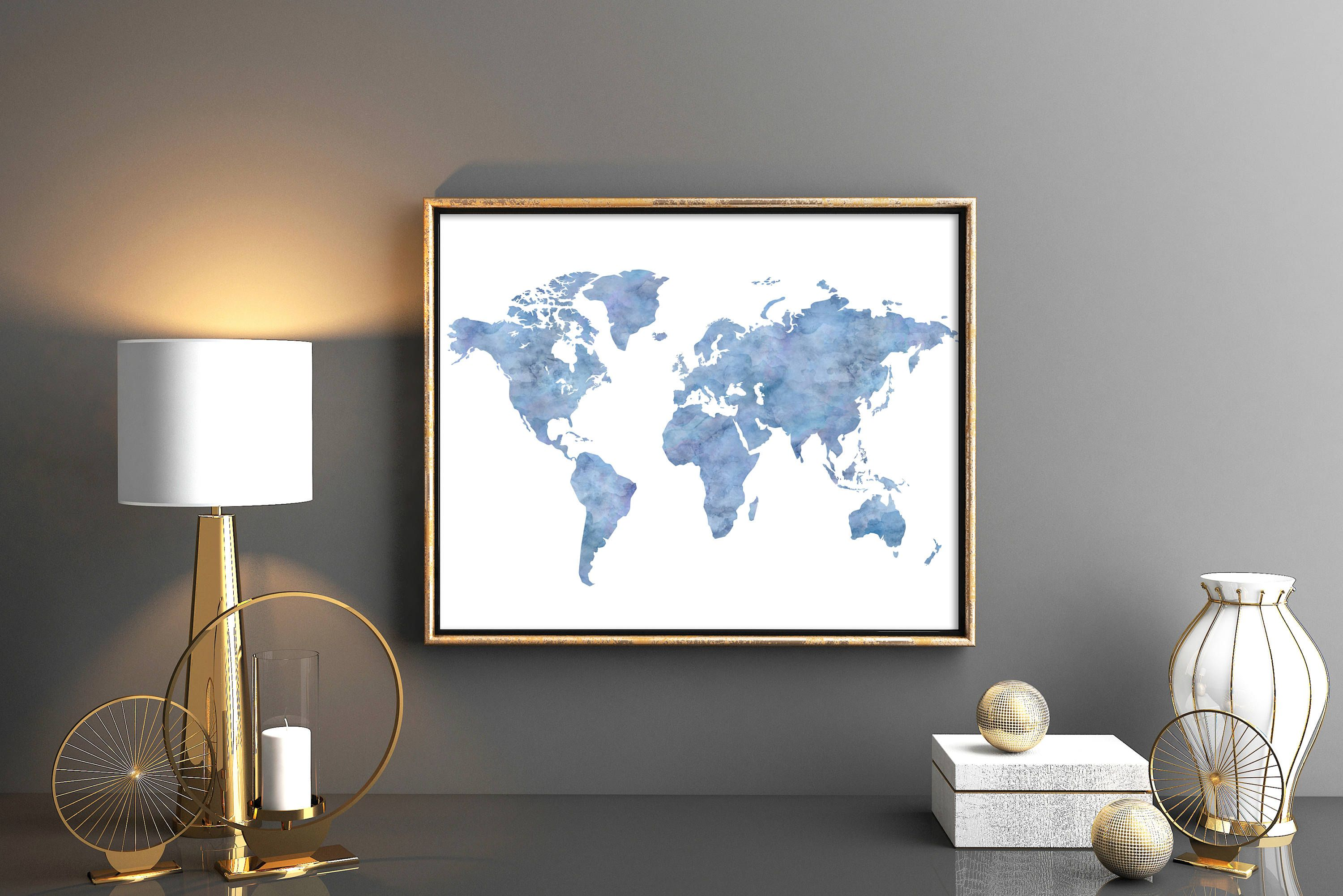 World Map Printable World Map Lovely Blue Turquoise World Map