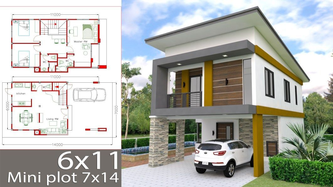 Simple Home Design 3d Houses In 2020 Simple House Design Two Story House Design House Layout Plans