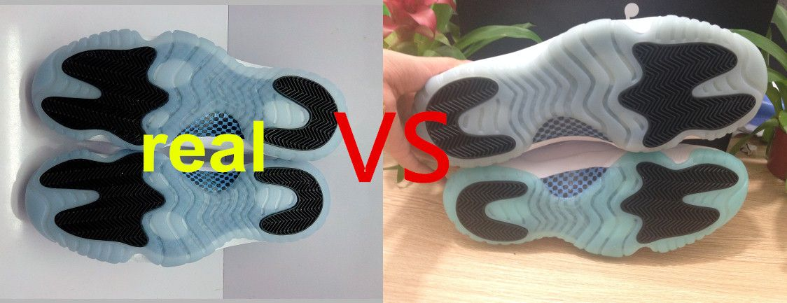 new product 9ea88 52a12 ... vs fake compare between Jordan 11 legend Blue real one and fake ones  skype livexiaomei2025 ...