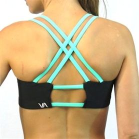 The Starfish Sports Bra in Black and Mint. I have a serious ...
