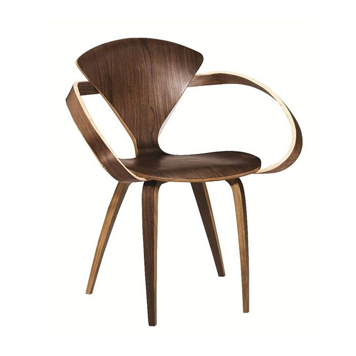 Superbe Sculptural Wood Arm Chair | Dot And Bo