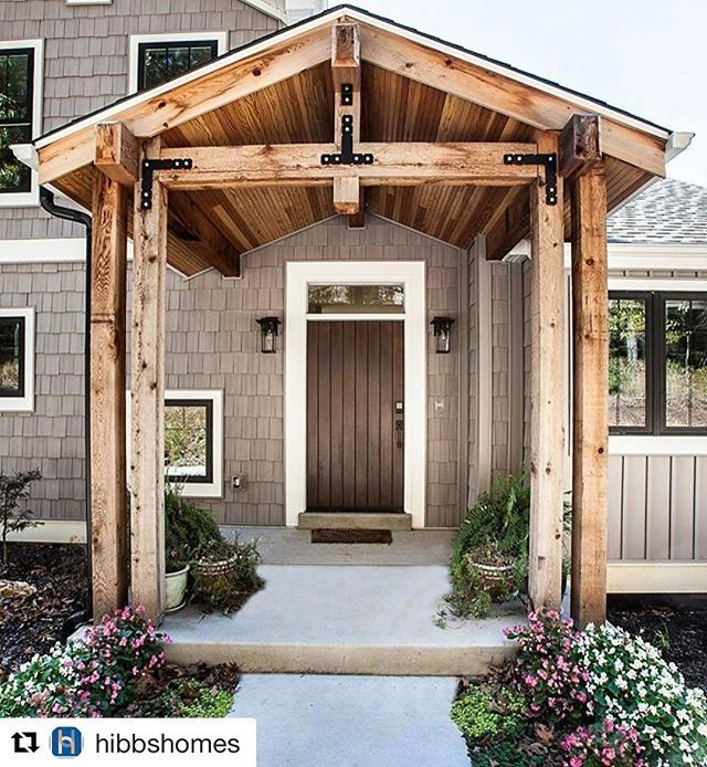 Beautiful Timber Portico Entrance Repost Hibbshomes
