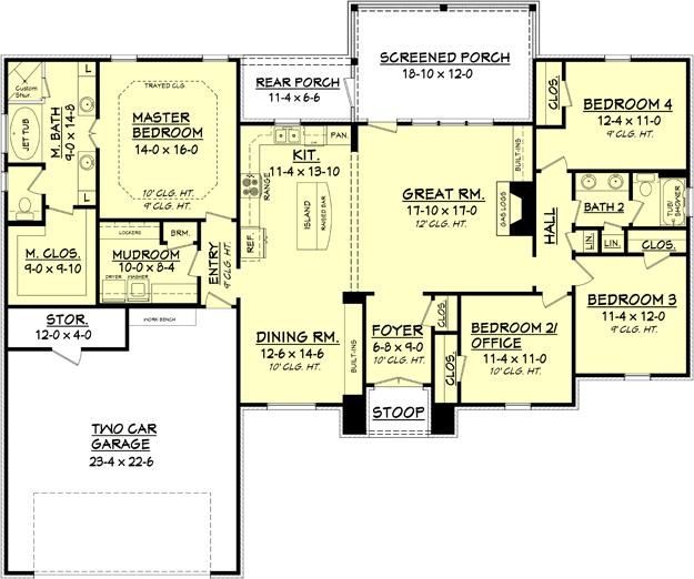 Like the floor plan Maybe just add and make it have a 2nd floor