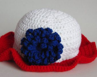 American Crocheted Child's Sunhat, Baby's Hat, Toddler's Hat