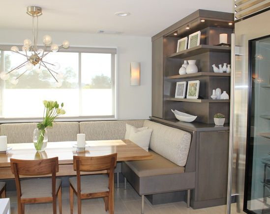 Lovely Beautiful, Built In Dining Room Seating : Color Palette : Incredible Light  Fixture :