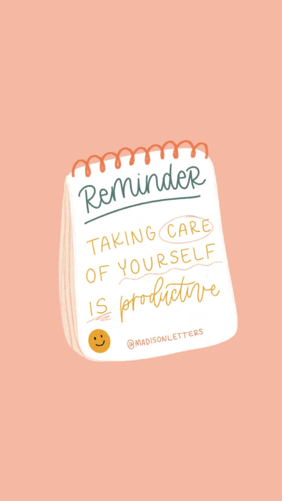 taking care of yourself is productive ☺️   @madisonletters