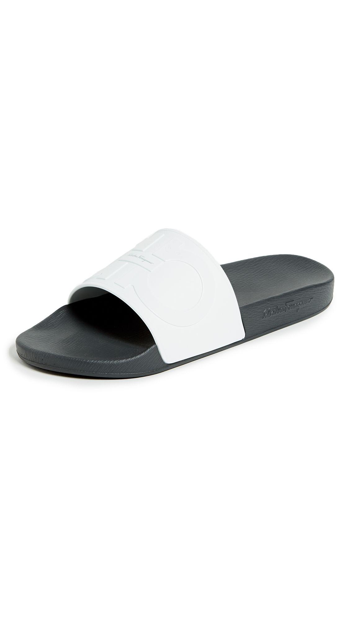 923662300ab SALVATORE FERRAGAMO GROOVE 2 SLIDE SANDALS.  salvatoreferragamo  shoes