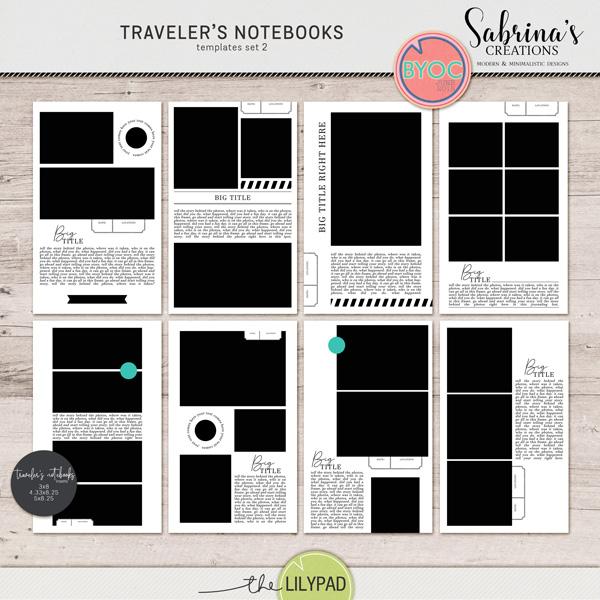 Traveler S Notebooks Templates Set 2 Travelers Notebook Travel Journal Scrapbook Notebook Templates