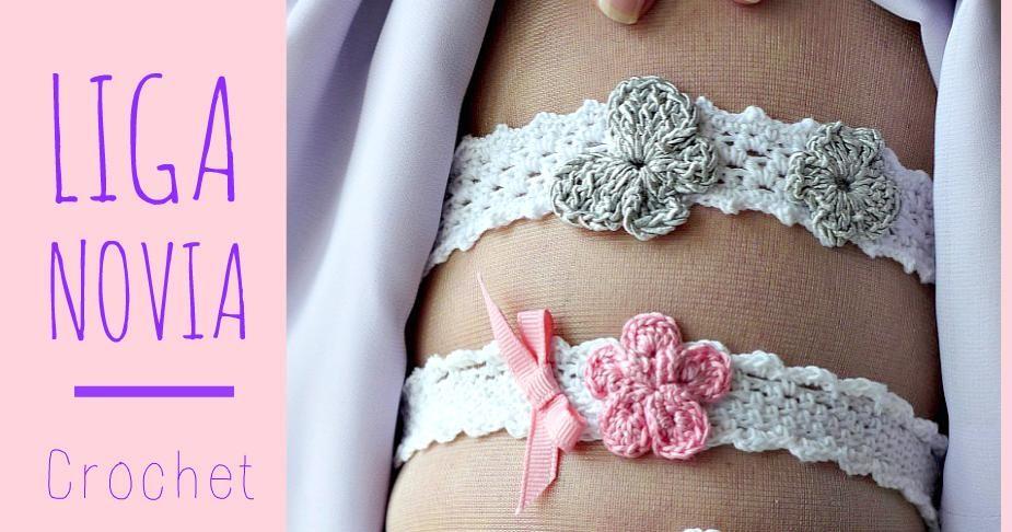Ligas para novia de crochet, ¡con patrón!   Pattern - Tutoriales ...